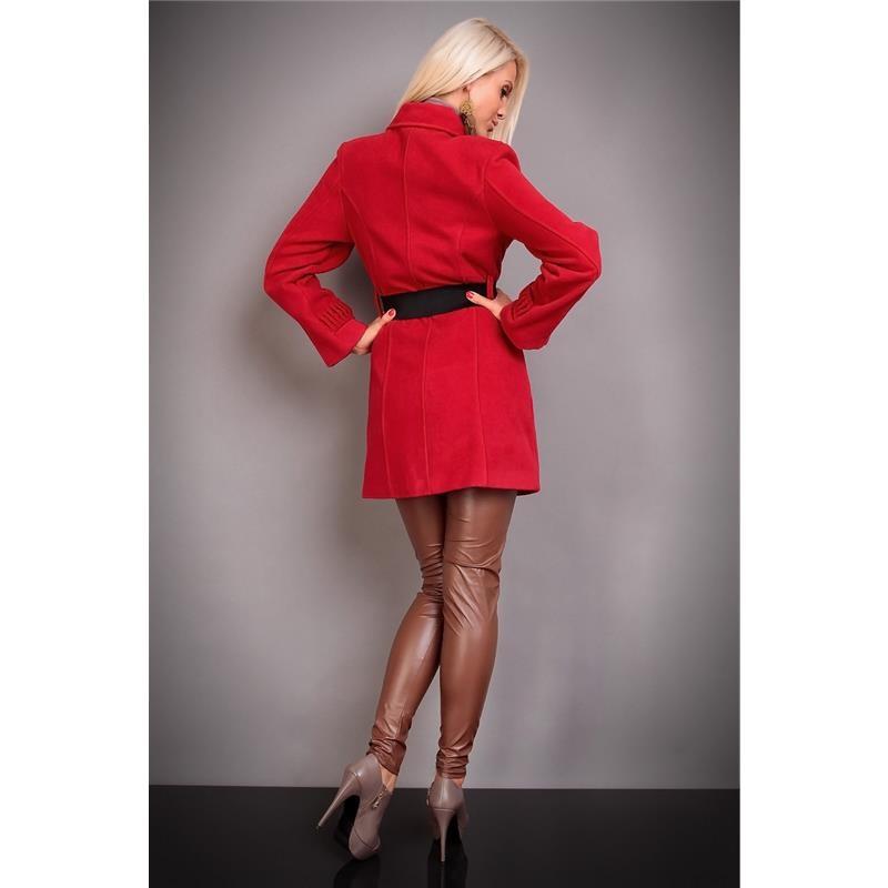 eleganter damen kurzmantel mit zierfalten und g rtel 49 95. Black Bedroom Furniture Sets. Home Design Ideas