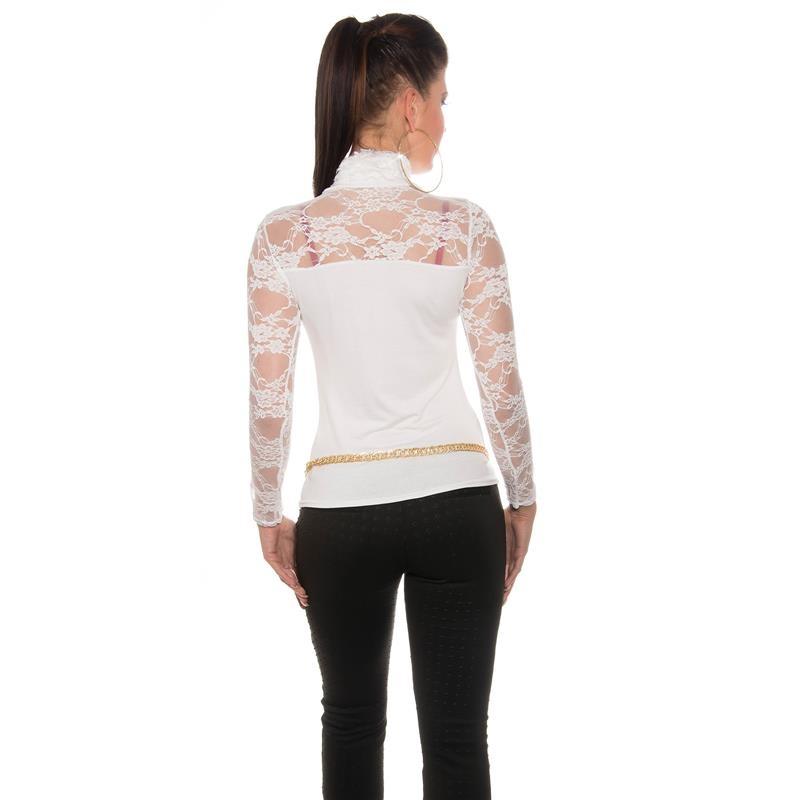 elegantes damen shirt mit langen rmeln und stehkragen 19. Black Bedroom Furniture Sets. Home Design Ideas