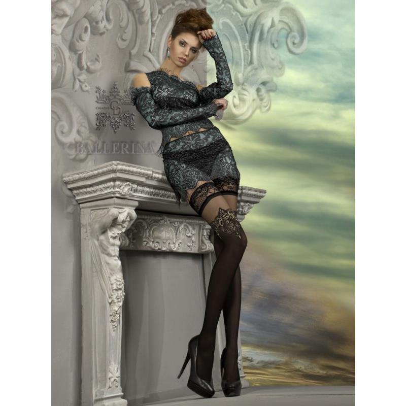 halterlose ballerina glamour nylon str mpfe mit spitze 15. Black Bedroom Furniture Sets. Home Design Ideas