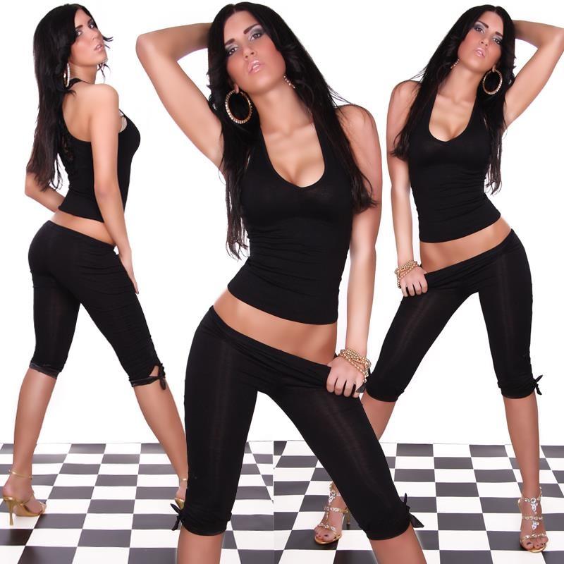 sexy capri leggings mit satin 9 95. Black Bedroom Furniture Sets. Home Design Ideas