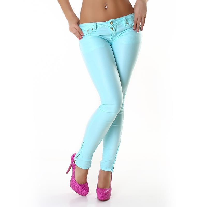 SEXY LOW RISE JEANS SLIGHTLY GLOSSY WITH ANKLE ZIPPER, 29,95 €