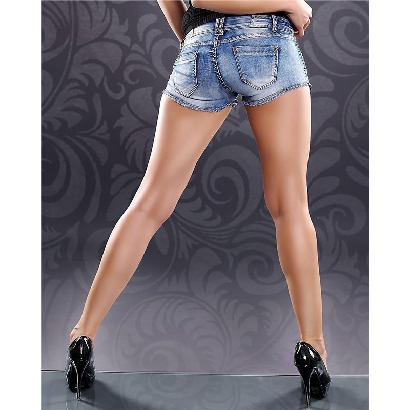 sexy jeans hotpants mit nieten 24 95. Black Bedroom Furniture Sets. Home Design Ideas