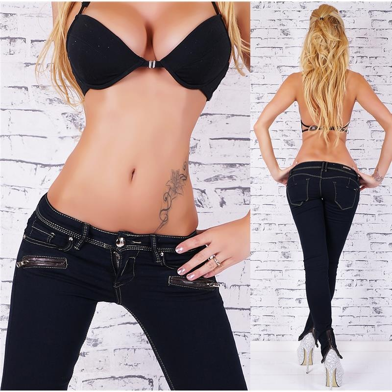 SEXY SKINNY DRAINPIPE JEANS WITH ZIPS AT THE LEGS, 34,95 €