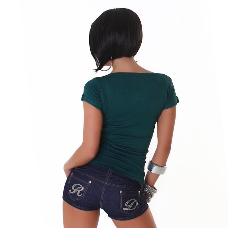 sexy kurzarm shirt mit schn rung 17 95. Black Bedroom Furniture Sets. Home Design Ideas