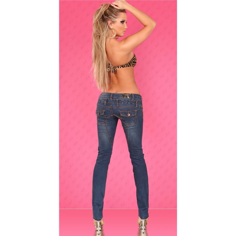 SEXY LOW-CUT DRAINPIPE JEANS WITH THICK SEAMS, 39,95 €
