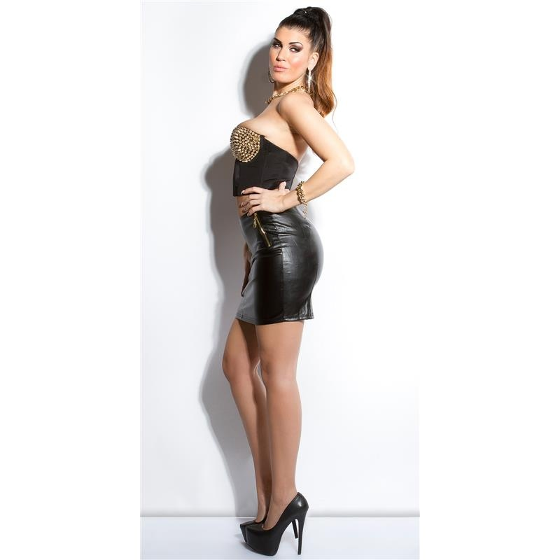 SEXY MINISKIRT IN LEATHER-LOOK WITH 2-WAY ZIPPER, 23,95 €