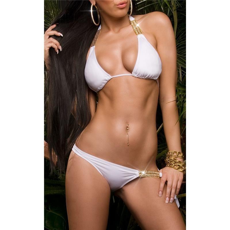 sexy halterneck bikini beachwear with rhinestones 23 95. Black Bedroom Furniture Sets. Home Design Ideas