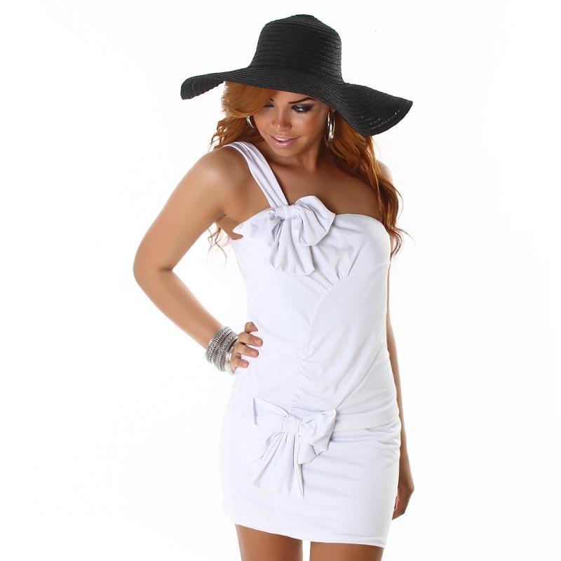 sexy one shoulder minikleid mit schleifen 24 95. Black Bedroom Furniture Sets. Home Design Ideas