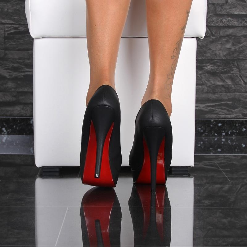 sexy leder imitat high heels mit roter sohle 34 95. Black Bedroom Furniture Sets. Home Design Ideas