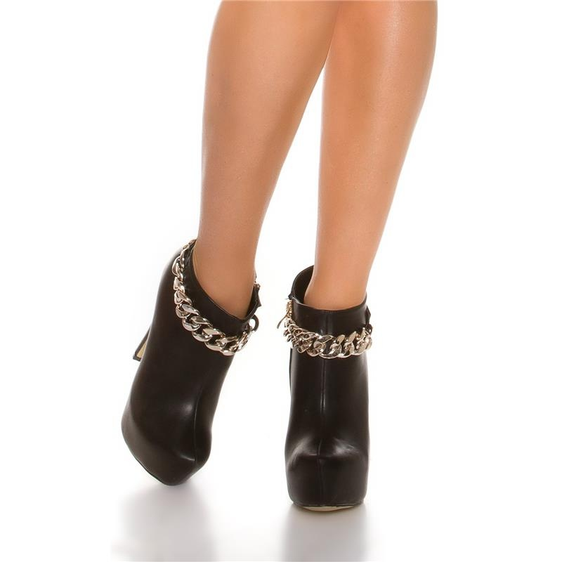sexy platform ankle boots with chain 39 95. Black Bedroom Furniture Sets. Home Design Ideas