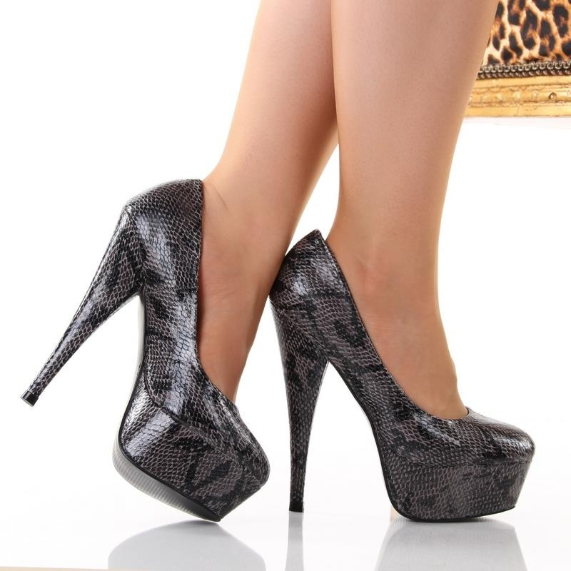 sexy platform high heels in snake look 39 95. Black Bedroom Furniture Sets. Home Design Ideas