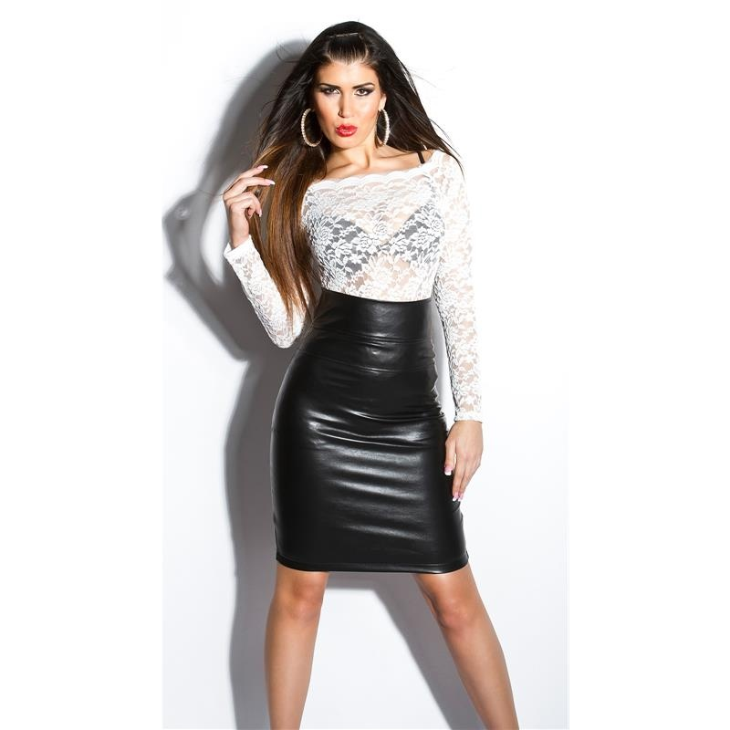 SEXY HIGH-WAISTED SKIRT MADE OF IMITATION LEATHER, 29,95 €