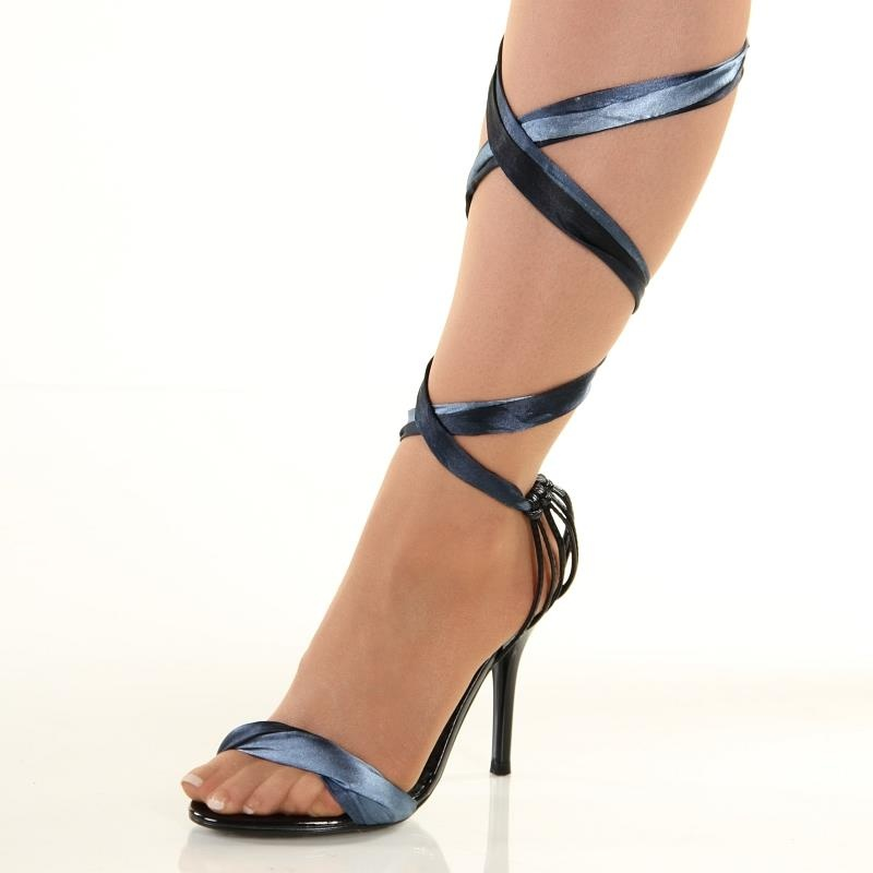 sweet high heel sandals with small ribbons 24 95. Black Bedroom Furniture Sets. Home Design Ideas