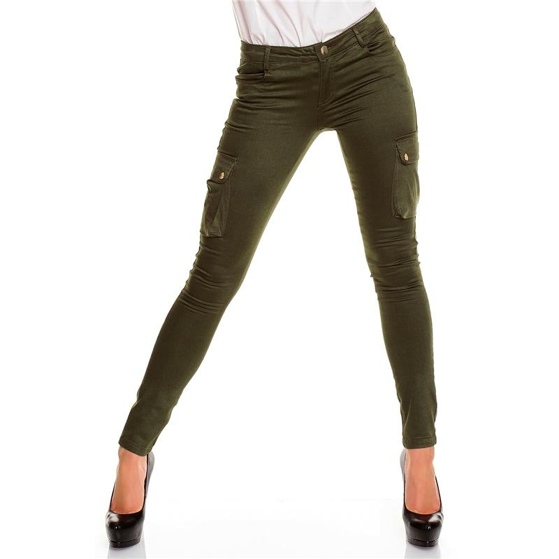 sexy skinny drainpipe jeans pants cargo look olive green. Black Bedroom Furniture Sets. Home Design Ideas