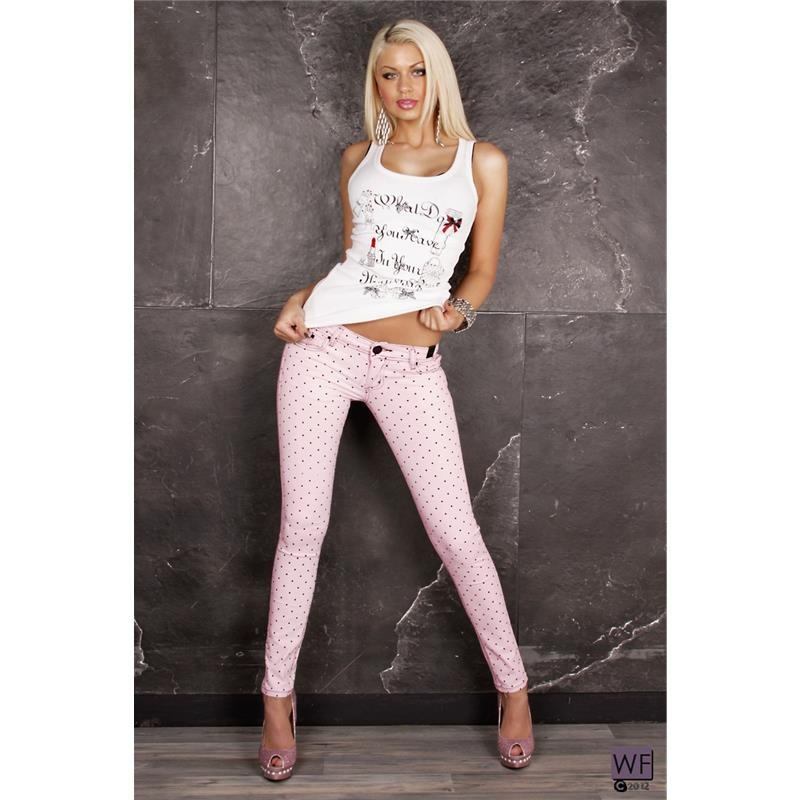 SEXY SKINNY DRAINPIPE JEANS WITH POLKA DOTS, 34,95 €