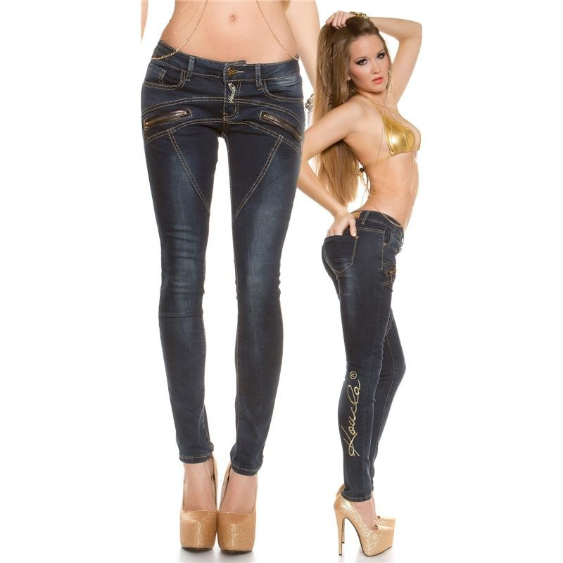 SEXY SKINNY USED-LOOK JEANS WITH THICK ORNAMENT SEAMS, 44,95 €