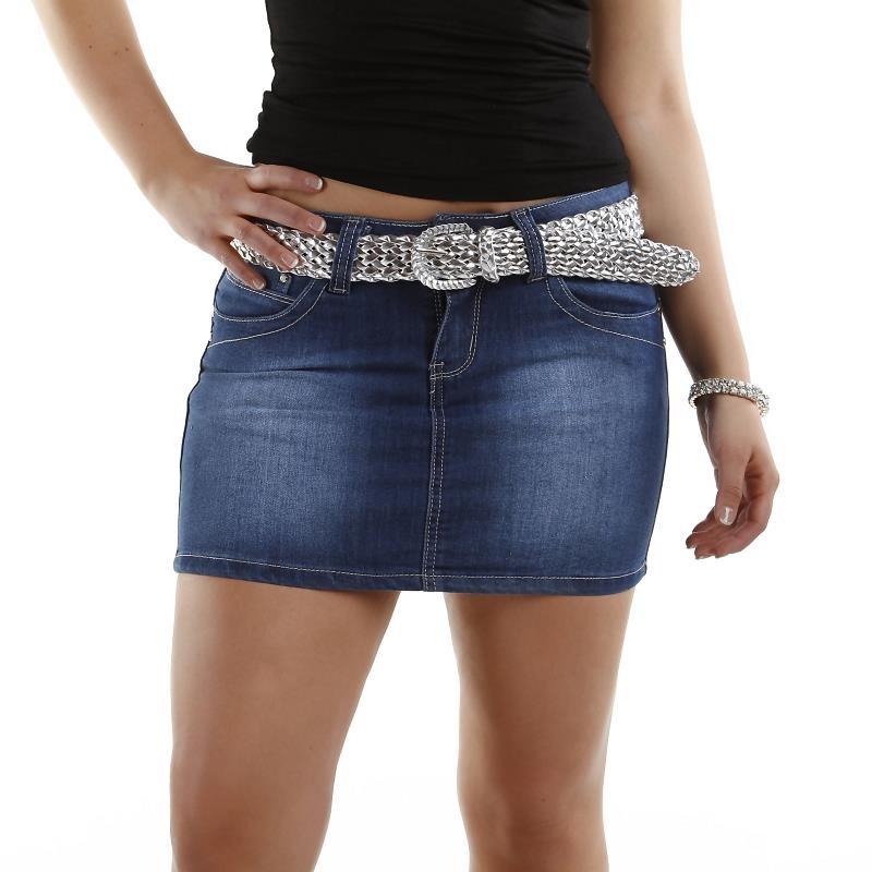 Dark Blue Denim Mini Skirt