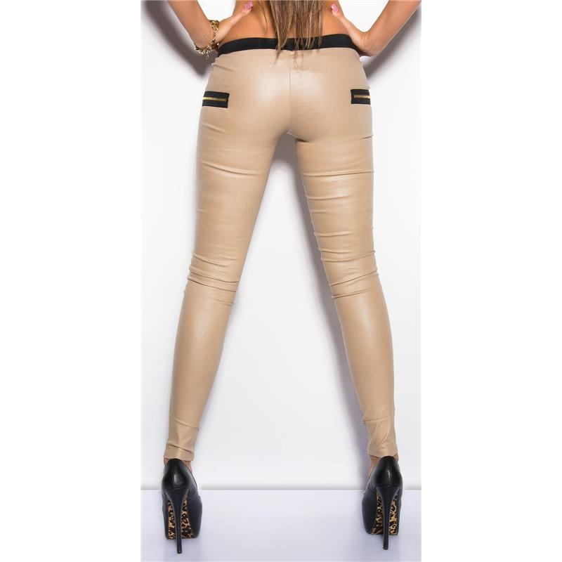 H & M - Faux Leather Treggings - Black. Sale $ Orig $ Treggings in faux leather with an elasticized waistband.