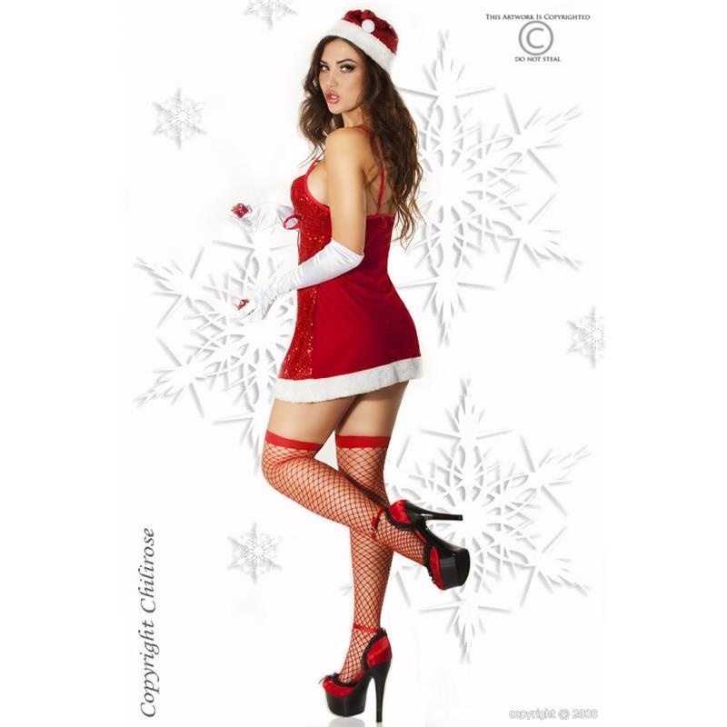 sexy christmas woman outfit christmas gogo red white 39 95. Black Bedroom Furniture Sets. Home Design Ideas