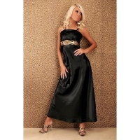 LUXURY GALA EVENING DRESS WITH RHINESTONES BLACK