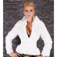 PRECIOUS FAKE FUR JACKET TEDDY JACKET SOFTY WHITE