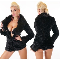 NOBLE TEDDY JACKET MADE OF SUPER SOFT AND CUDDLY FAKE FUR...