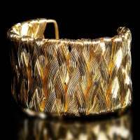 NOBLE ARMLET BRACELET IN BRAIDED LOOK FASHION JEWELLERY GOLD