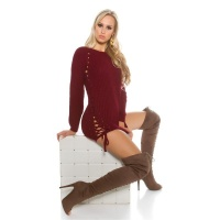 NOBLE COARSE-KNITTED LADIES SWEATER JUMPER WITH LACING...