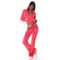 NOBLE NIKKI LEISURE SUIT JOGGING SUIT TRACKSUIT WITH HOOD CORAL UK 10 (S)