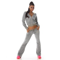 NOBLE NIKKI LEISURE SUIT JOGGING SUIT TRACKSUIT WITH HOOD LIGHT GREY UK 10 (S)