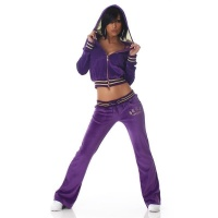NOBLE NIKKI LEISURE SUIT JOGGING SUIT TRACKSUIT WITH HOOD PURPLE