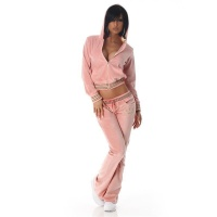 NOBLE NIKKI LEISURE SUIT JOGGING SUIT TRACKSUIT WITH HOOD PINK UK 12 (M)