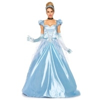 NOBLE 3 PCS PRINCESS CINDERELLA COSTUME BALL GOWN ICE-BLUE