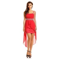 NOBLE EVENING DRESS WITH CHIFFON VEIL INCL. STOLE RED