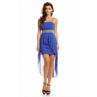 NOBLE EVENING DRESS WITH CHIFFON VEIL INCL. STOLE ROYAL BLUE