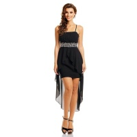NOBLE EVENING DRESS WITH CHIFFON VEIL INCL. STOLE BLACK