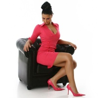 EDLES BUSINESS PENCIL-KLEID PINK 38