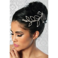 PRECIOUS CIRCLET WITH RHINESTONES HAIR JEWELLERY SILVER