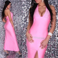 GLAMOROUS DIVA EVENING DRESS FUCHSIA