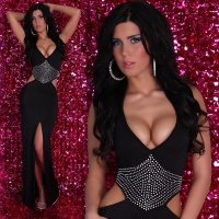 GLAMOROUS DIVA EVENING DRESS BLACK