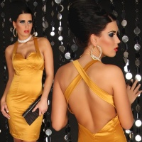 SEXY GLAMOUR SHEATH DRESS GOLD