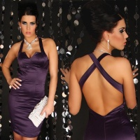 SEXY GLAMOUR SHEATH DRESS PURPLE UK 8