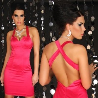 SEXY GLAMOUR SHEATH DRESS FUCHSIA UK 12