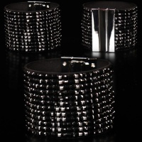 PRECIOUS GLAMOUR PARTY ARMLET RHINESTONE-LOOK BLACK