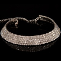 LUXURY RHINESTONE-NECKLACE SILVER