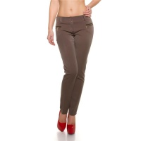ELEGANT BUSINESS CLOTH PANTS PLEAT-FRONT TROUSERS CAPPUCCINO