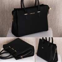 ELEGANT HANDBAG SLING BAG WITH GOLDEN METAL DECOR BLACK