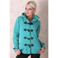PRECIOUS FLEECE SHORT COAT JACKET GREEN