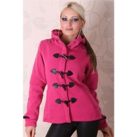 PRECIOUS FLEECE SHORT COAT JACKET FUCHSIA UK 10 (M)