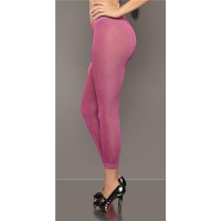 ELEGANT GLAMOUR LEGGINGS WITH GLITTER FUCHSIA Onesize (UK 8,10,12)